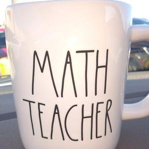 Rae Dunn math teacher mug